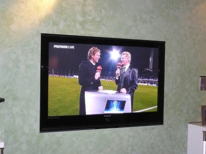 Demowand Fernseher